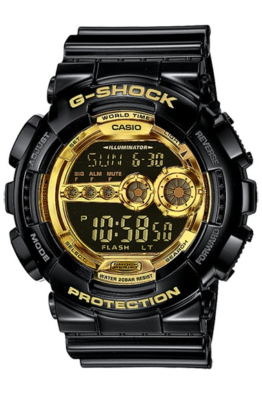 CASIO GD-100GB-1DR - NAM - QUARTZ (PIN) - DÂY KIM LOẠI